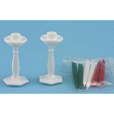 Dollhouse Miniature Chrysnbon Candlesticks: Toys & Games
