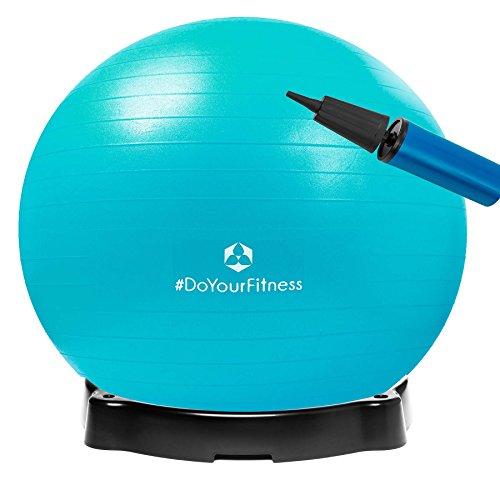 Gymnastikball »Pluto« inklusive Ballschale / Robuster Sitzball und Fitnessball / 75 cm / türkis