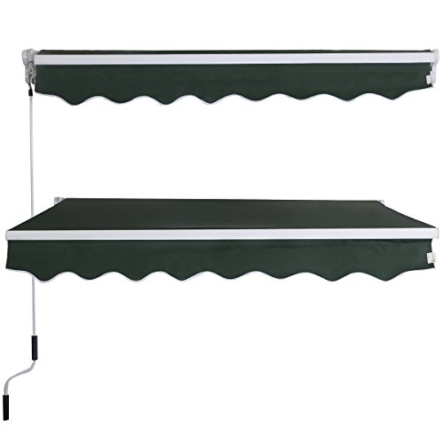 eight24hours-manual-patio-8265-retractable-deck-awning-sunshade-shelter-canopy-outdoor-green