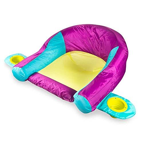 (SwimWays AquaLinx Floats - Interlocking Swim Loungers for Pool or Lake - Purple)