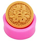 Longzang Chinese Style Chinese Character Mould Craft Art Silicone Soap Mold Craft Molds DIY Handmade Candle Molds (S354)