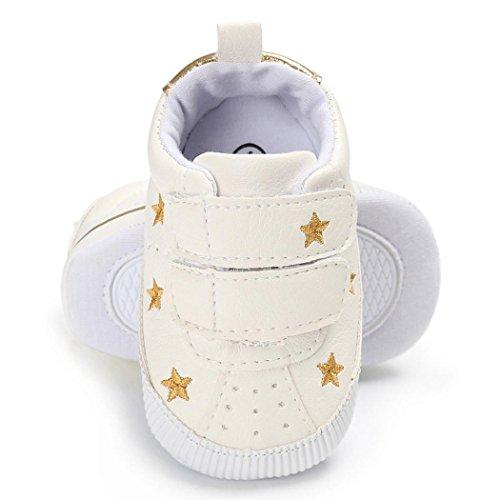 Hunpta Kleinkind Mädchen Jungen Krippe Stern Neugeborene Soft Sohle Anti-Rutsch Baby Schuhe Sneakers Gold