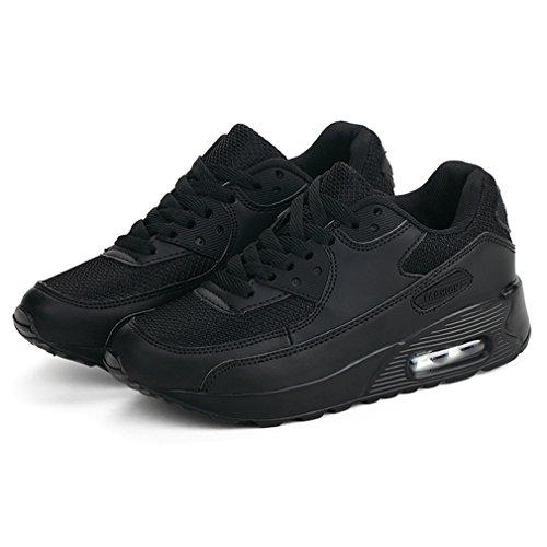 Sneakers Interior All'aperto Basse Casual Nero Ginnastica Da Donna Scarpe Corsa Fitness Sportive Running yw00zUOq1