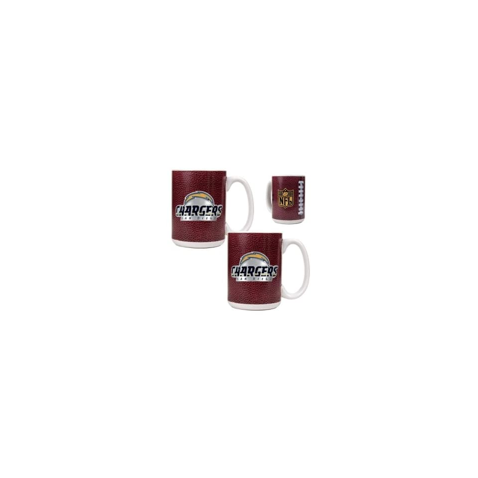 San Diego Chargers NFL 2pc Gameball Ceramic Mug Set