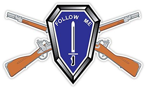 FOLLOW ME CROSS RIFLES US ARMY UNITED sticker decal 5