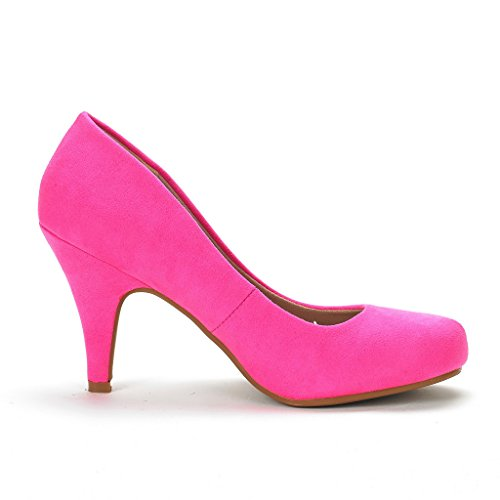 Dream Pairs Arpel / Berry Para Mujer Evening Dance Rhinestones Classic Low Heel Pumps Zapatos New Arpel-fucsia