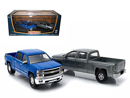 Greenlight 29827 First Cut 2014 Chevrolet Silverado Pickup Trucks Hobby Only Exclusive 2 Cars Set 1-64 Diecast Models