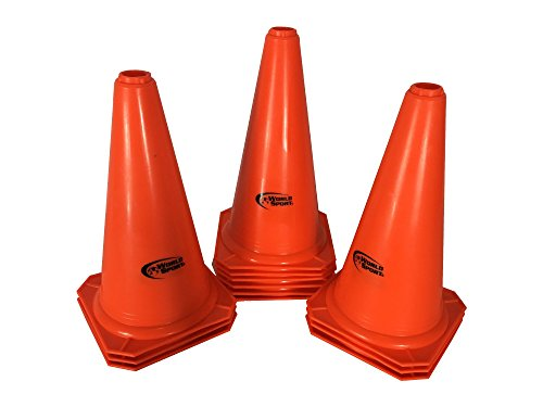 World Sport Set of 12 Orange Twelve Inch Cones by World Sport