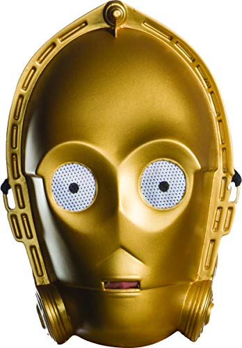 (Rubie's Costume Unisex-Adult's Standard Star Wars Classic Ben Cooper C-3PO Mask, as Shown, One)
