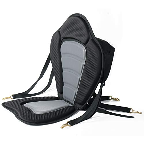 Leader Accessories Black/gray Deluxe Kayak Seat (Black/Gray)