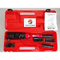 Tool Zone 10 Ton Quick Hydraulic Crimping Tools Kit 10-300 sq mm (12 Set of Dies)