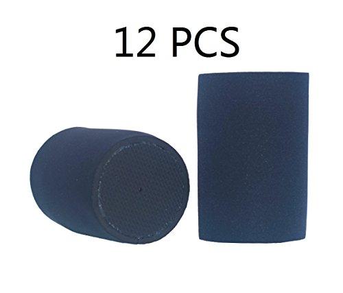 Neoprene Can Holder (E- Living Glued Bottomed Neoprene Can Sleeve Holder Coolie Cover for Cola / Beer / Soda - 12 Pack (6 Colors) (Black))
