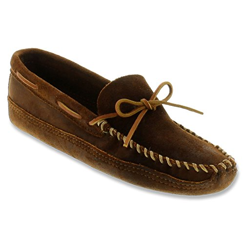 Minnetonka Double Bottom Softsole, Mocasines para Hombre marrones