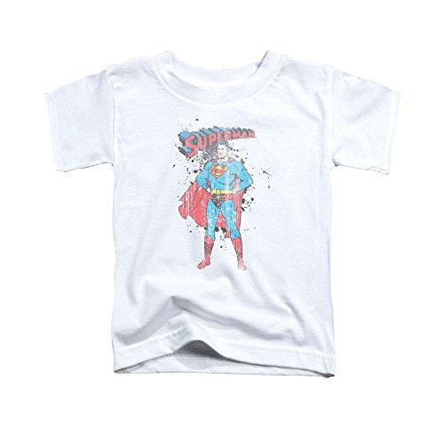 (Superman Vintage Ink Splatter Toddler T-Shirt 4t)
