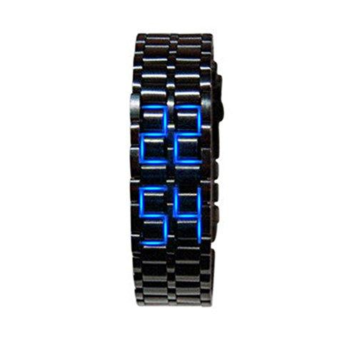 Women's Black Bangle LED Wrist Watch - 3