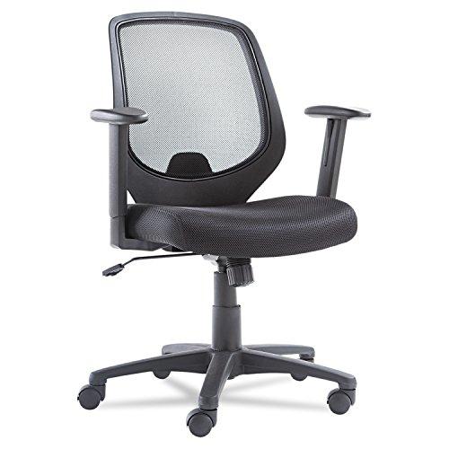 OIF CD4218 Swivel/Tilt Mesh Mid-Back Chair Height Adjustable T-Bar Arms, (Height Adjustable T-bar Arms)