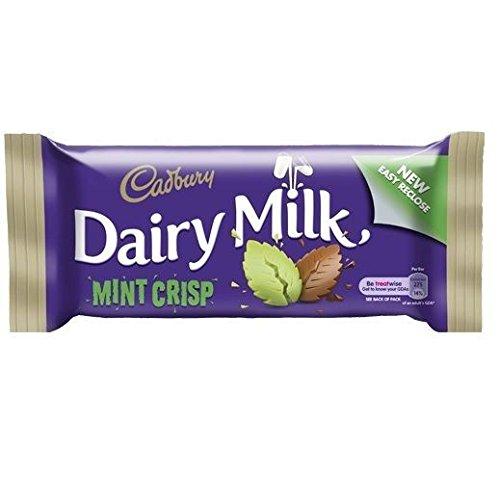 - Cadbury Dairy Milk Mint Crisp Standard Bar (Irish) - 49g (Pack of 6)
