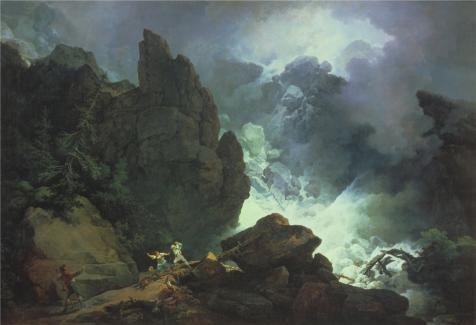 Oil Painting 'Phillip James De Loutherbourg - An Avalanche In The Alps,1803' Printing On High Quality Polyster Canvas , 18x26 Inch / 46x67 Cm ,the Best Powder Room Gallery Art - Dog Cashew Bed