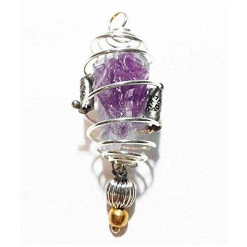 natural-amethyst-pendant-necklace-quartz-crystal-stone-silver-plated-handmade-handcrafted