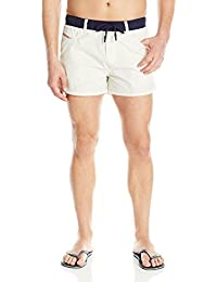 Diesel Men's Wayeeki Printed Palm Short 12inch Swim Trunk