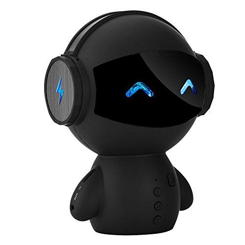 ポータブルワイヤレスロボットスピーカー Fosaスマートロボットミニかわいいエイリアンスピーカー パワーバンク 女の子、子供、ギフト、おもちゃ、家族対応 USBケーブル付き
