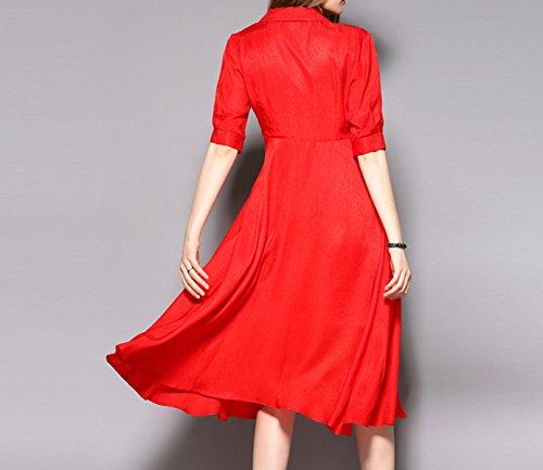 Vestido Rojo De Las Mujeres Red