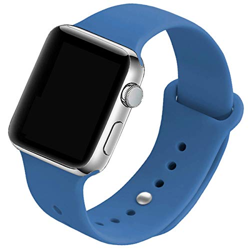 (Mairix Compatible iWatch 44mm 42mm Band, Soft Silicone Sport Wrist Strap Replacement for Apple Watch Series 4 44mm Series 3/2/1 42mm Nike+ Edition, 42mm/44mm S/M - Delft)