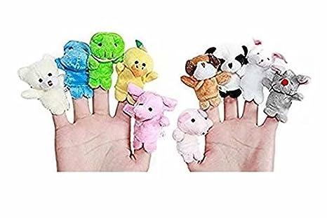 Waymeduo Fingerpuppen Fingertiere Handkasperletheater Puppets