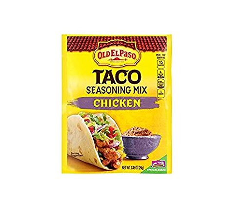 Amazon Com Old El Paso Chicken Taco Seasoning Mix Pack Of 4 85 Oz Packets Grocery Gourmet Food