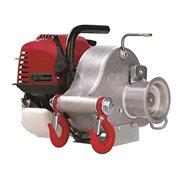 Portable Gas-Powered Capstan Winch 35cc Honda Engine, 1,550-Lb. Line Pull, Model# PCW3000