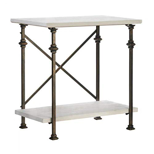 Wood Console Table with Iron Frame ()
