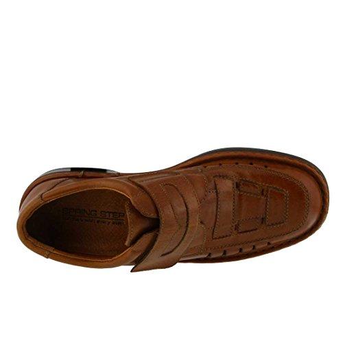 Våren Steg Mens Ainsley Slip-on Camel Handmålad Läder