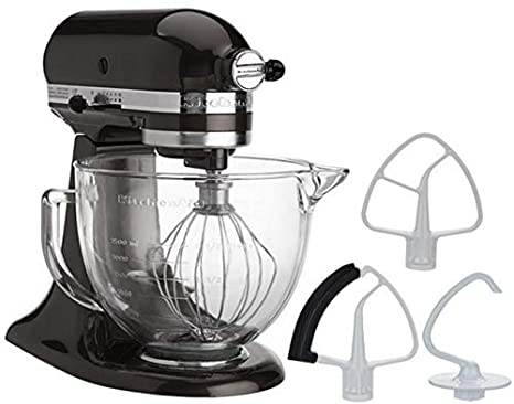 KitchenAid 5-Quart Stand Mixer Glass Bowl Onx Black
