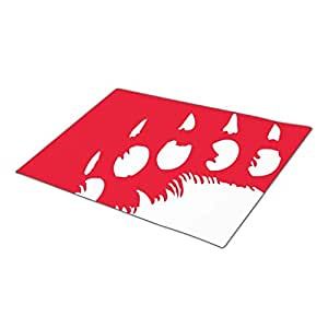RealYou Heritage Polar Bear Paw Print Decorative Door Mats