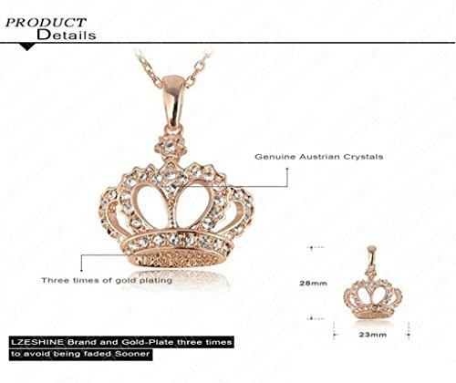 Femmes Filles Plaqué Or 18K Collier Lien King Couronne Or - Aooaz Bijoux