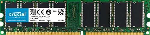 Crucial 1GB DDR 333Mhz, PC2700, Unbuffered, Non-ECC, 184-Pin DIMM Desktop Memory Upgrade CT12864Z335
