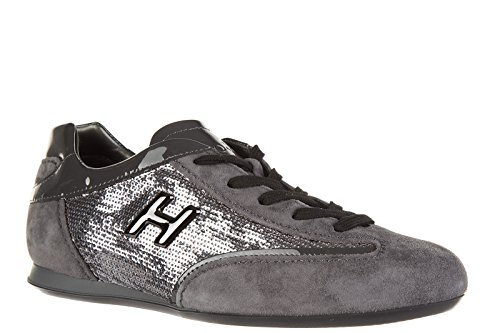 Sneakers Trainers Grey Olympia Womens Suede h Hogan Metal Shoes 8FROtwq8xI