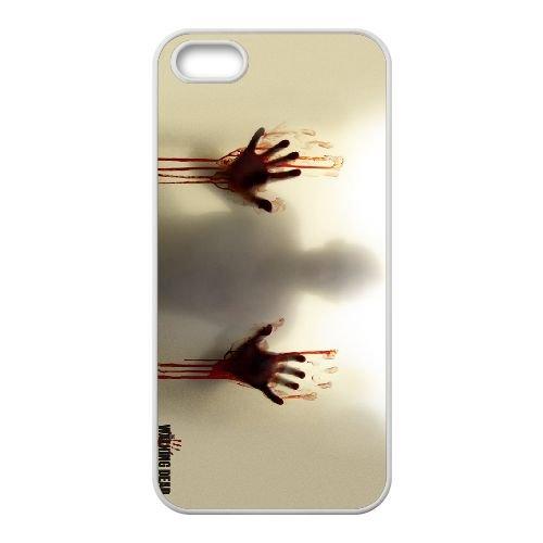 The Walking Dead 007 coque iPhone 4 4S cellulaire cas coque de téléphone cas blanche couverture de téléphone portable EOKXLLNCD20326
