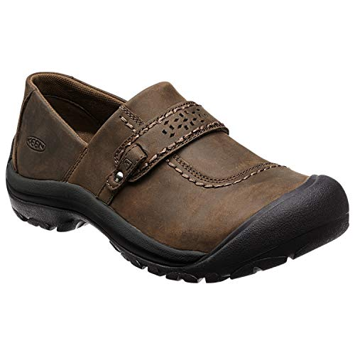 KEEN Women's Kaci Full Grain Slip On Casual Shoe, Cascade Brown, 8 M US from Keen