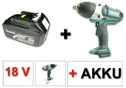 Makita BTW 450 18 V Li-Ion atornillador de impacto inalámbrico + 1 x ...