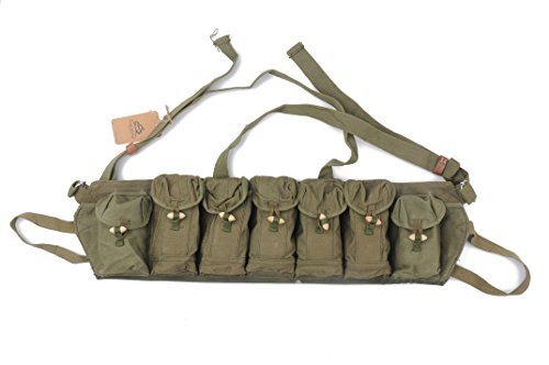 Chinese Military Surplus SKS Type 63 Chest Rig Bandolier Ammo Pouch 7.62x39 7 Pocket Chest Pouch Rig