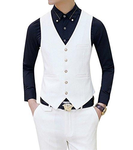 MOGU Mens Tail Tuxedo 3 Piece Suit US Size 32 White by MOGU (Image #5)