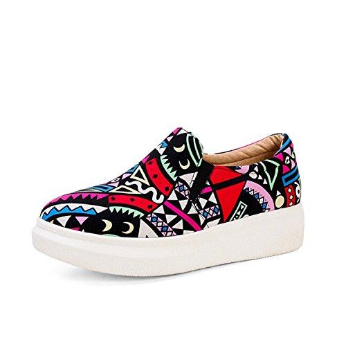 Ei&iLI Chaussures de Lok Fu Graffiti deep pan chaussures pour femmes grande taille , pink , 37