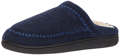 Dearfoams Dames Vilt X-stitch Clog Peacoat
