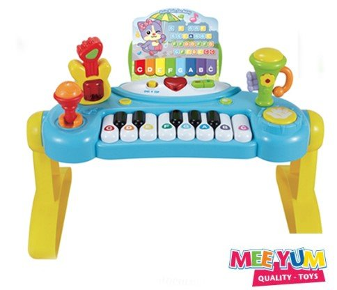 MeeYum Toddler Piano Electronic Musical Learning Keyboard, Microphone, Instruments W/ Learning Cards and Folding Stand Musical Instruments for boys and girls (Learn To Play Stand By Me On Guitar)