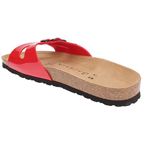 Backsun - Tongs / Sandales - Maldives Homme Rouge Vernis Semelle Noire - Rouge