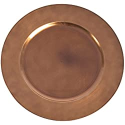 "SARO LIFESTYLE CH001.CO13R Classic Design Charger Plate, Copper, 13"" (Set of 4 pcs)"