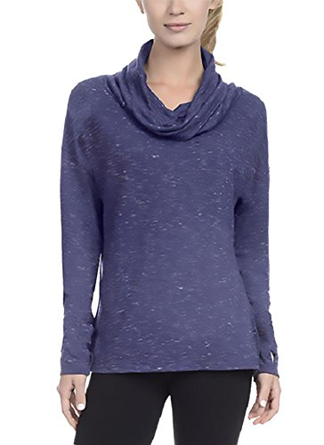 Danskin Womens French Terry Pullover, Slate Blue, - Womens Pullover Danskin