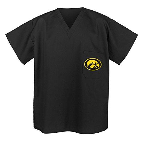 OFFICIAL University of Iowa SCRUB SHIRTS - BEST Iowa Hawkeyes Scrubs Med