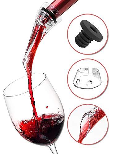 K-Effect Wine Aerator Pourer — Red Wine Diffuser Aerating — Plastic Small Acrylic Aerator For White Wine Bottle